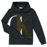 Odjeća Dječak  Sportske majice Calvin Klein Jeans IB0IB00628-BEH Crna