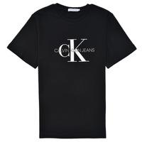 Odjeća Djeca Majice kratkih rukava Calvin Klein Jeans MONOGRAM Crna