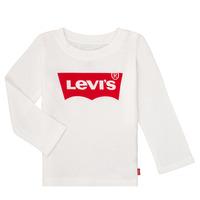 Odjeća Djevojčica Majice dugih rukava Levi's BATWING TEE LS Bijela