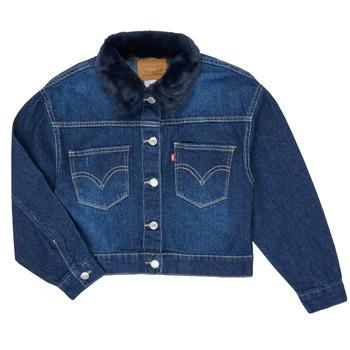 Odjeća Djevojčica Traper jakne Levi's OVERSIZED TRUCKER Thames