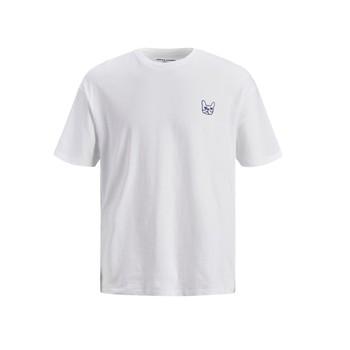 Odjeća Dječak  Majice kratkih rukava Jack & Jones JJAARHUS TEE Bijela