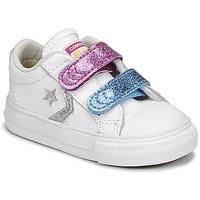 Obuća Djevojčica Niske tenisice Converse STAR PLAYER 2V GLITTER TEXTILE OX Bijela / Blue / Ružičasta