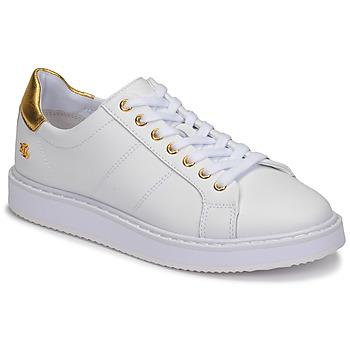 Obuća Žene  Niske tenisice Lauren Ralph Lauren ANGELINE II Bijela / Gold