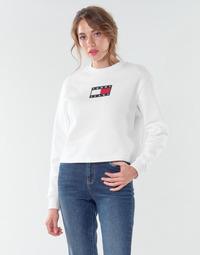 Odjeća Žene  Sportske majice Tommy Jeans TJW TOMMY FLAG CREW Bijela