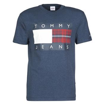 Odjeća Muškarci  Majice kratkih rukava Tommy Jeans TJM PLAID CENTRE FLAG TEE Blue