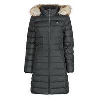 Odjeća Žene  Pernate jakne Tommy Jeans TJW ESSENTIAL HOODED DOWN COAT Crna