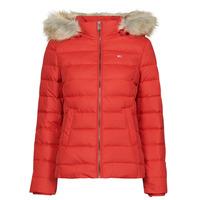 Odjeća Žene  Pernate jakne Tommy Jeans TJW BASIC HOODED DOWN JACKET Red