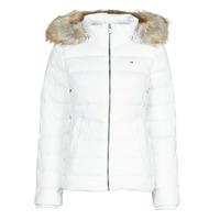 Odjeća Žene  Pernate jakne Tommy Jeans TJW BASIC HOODED DOWN JACKET Bijela