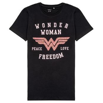 Odjeća Djevojčica Majice kratkih rukava Name it NKFWONDERWOMEN Crna