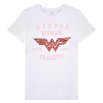 Odjeća Djevojčica Majice kratkih rukava Name it NKFWONDERWOMEN Bijela