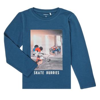 Odjeća Dječak  Majice dugih rukava Name it NMMMICKEY EMIL Blue