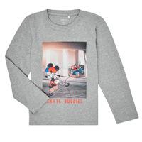 Odjeća Dječak  Majice dugih rukava Name it NMMMICKEY EMIL Siva