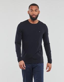 Odjeća Muškarci  Majice dugih rukava Tommy Hilfiger STRETCH SLIM FIT LONG SLEEVE TEE Crna