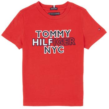 Odjeća Dječak  Majice kratkih rukava Tommy Hilfiger KB0KB05848-XNL Red