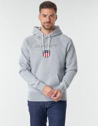 Odjeća Muškarci  Sportske majice Gant GANT SHIEL HOODIE Siva