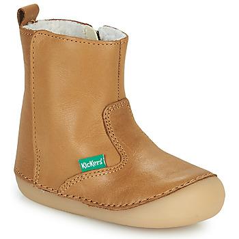 Obuća Djevojčica Polučizme Kickers SOCOOL CHO Camel