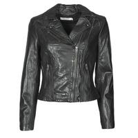 Odjeća Žene  Kožne i sintetičke jakne Naf Naf CAMILLA Crna