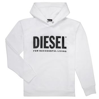 Odjeća Dječak  Sportske majice Diesel SDIVISION LOGO Bijela