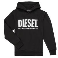 Odjeća Dječak  Sportske majice Diesel SDIVISION LOGO Crna