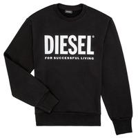 Odjeća Dječak  Sportske majice Diesel SCREWDIVISION LOGO Crna