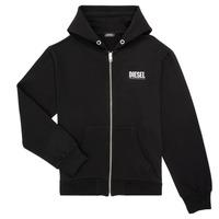Odjeća Dječak  Sportske majice Diesel SGIRKHOODZIP LOGO Crna