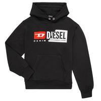Odjeća Djeca Sportske majice Diesel SGIRKHOODCUTY Crna