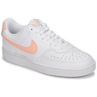Obuća Žene  Niske tenisice Nike COURT VISION LOW Bijela / Ružičasta