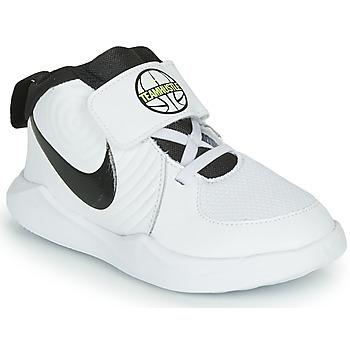 Obuća Dječak  Košarka Nike TEAM HUSTLE D 9 TD Bijela / Crna