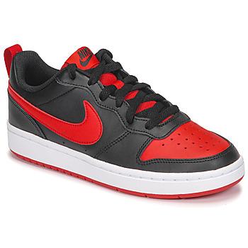 Obuća Djeca Niske tenisice Nike COURT BOROUGH LOW 2 GS Crna / Red