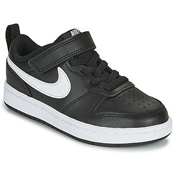 Obuća Djeca Niske tenisice Nike COURT BOROUGH LOW 2 PS Crna / Bijela