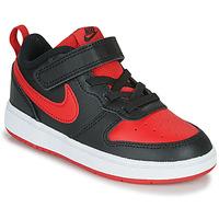 Obuća Djeca Niske tenisice Nike COURT BOROUGH LOW 2 TD Crna / Red
