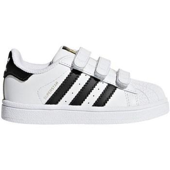 Obuća Djeca Niske tenisice adidas Originals Superstar CF I Bijela