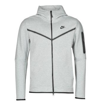 Odjeća Muškarci  Gornji dijelovi trenirke Nike M NSW TCH FLC HOODIE FZ WR Siva / Crna