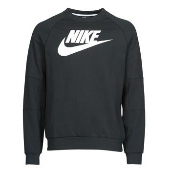 Odjeća Muškarci  Sportske majice Nike M NSW MODERN CRW FLC HBR Crna / Bijela