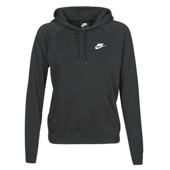 Odjeća Žene  Sportske majice Nike W NSW ESSNTL HOODIE PO FLC Crna