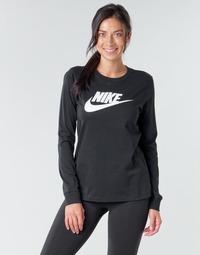 Odjeća Žene  Majice dugih rukava Nike W NSW TEE ESSNTL LS ICON FTR Crna