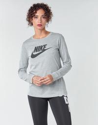 Odjeća Žene  Majice dugih rukava Nike W NSW TEE ESSNTL LS ICON FTR Siva