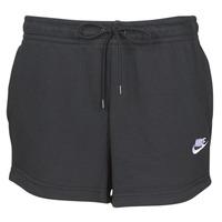 Odjeća Žene  Bermude i kratke hlače Nike W NSW ESSNTL SHORT FT Crna