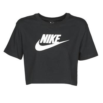 Odjeća Žene  Majice kratkih rukava Nike W NSW TEE ESSNTL CRP ICN FTR Crna