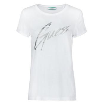 Odjeća Žene  Majice kratkih rukava Guess SS CN IVONNE TEE Bijela