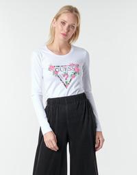 Odjeća Žene  Majice dugih rukava Guess LS CN VILMA TEE Bijela