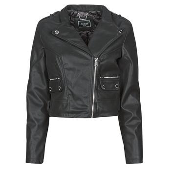 Odjeća Žene  Kožne i sintetičke jakne Guess FRANCES JACKET Crna