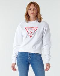 Odjeća Žene  Sportske majice Guess ICON FLEECE Bijela