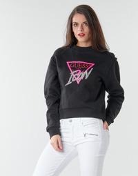 Odjeća Žene  Sportske majice Guess ICON FLEECE Crna / Multicolour