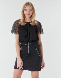 Odjeća Žene  Topovi i bluze Guess GERDA Crna