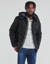 Odjeća Muškarci  Pernate jakne Guess STRETCH PUFFA HOODED Crna