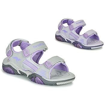 Obuća Djeca Sportske sandale Kangaroos Sandalshine Siva / Ljubičasta
