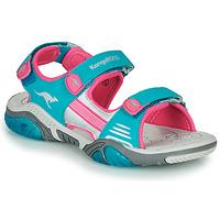 Obuća Djeca Sportske sandale Kangaroos Sandalshine Blue / Ružičasta