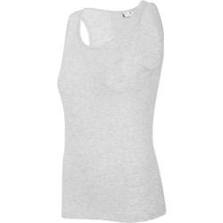 Odjeća Žene  Majice s naramenicama i majice bez rukava 4F TSD003 Siva