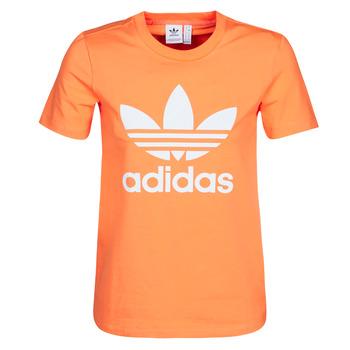 Odjeća Žene  Sportske majice adidas Originals TREFOIL TEE Narančasta